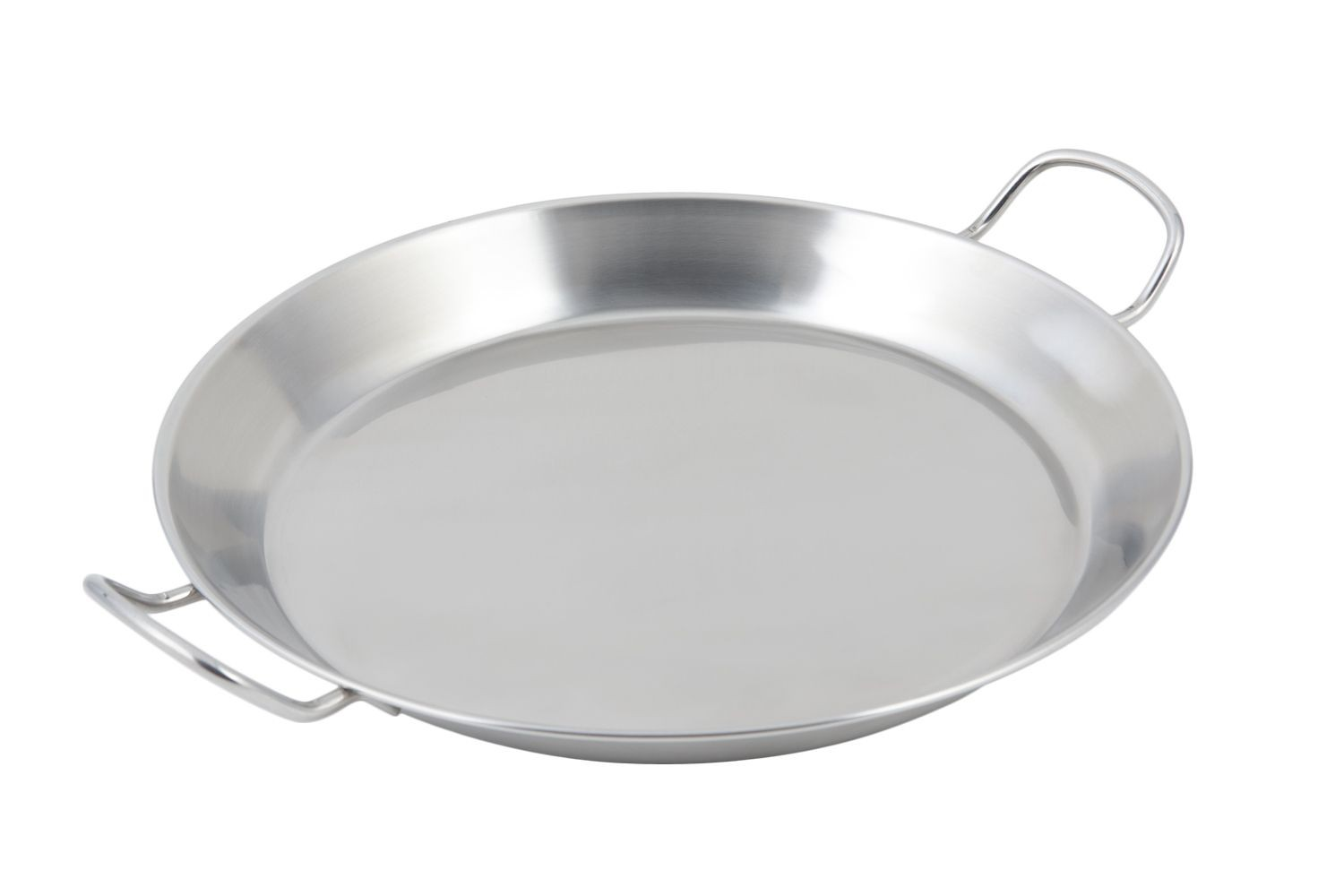 "Bon Chef 61249 Stainless Steel Paella Tray with Induction Bottom, 14 4/5"" Dia."