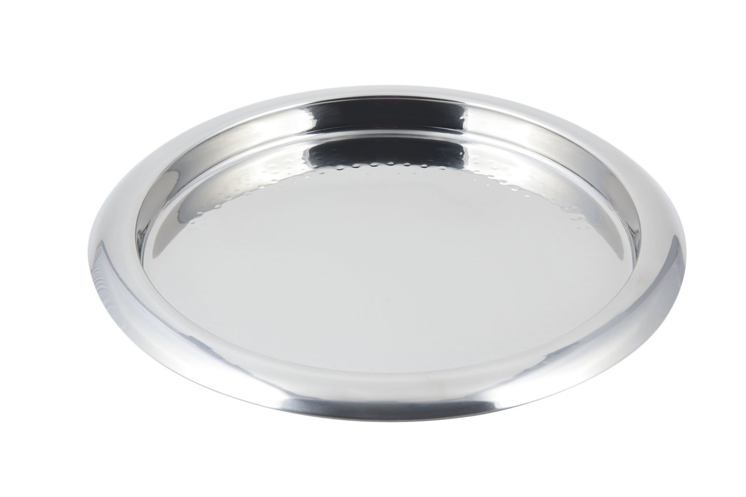 "Bon Chef 61277  Stainless Steel Round Hammered Tray, 13 1/4"" Dia."
