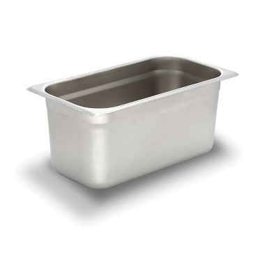 Bon Chef 61292 Stainless Steel 1/3 Size Rectangular Food Pan for Hot Dog Hawker