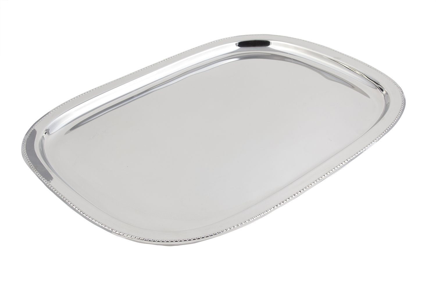 "Bon Chef 61350 Stainless Steel Oblong Tray, 15 3/4"" x 21 1/2"""