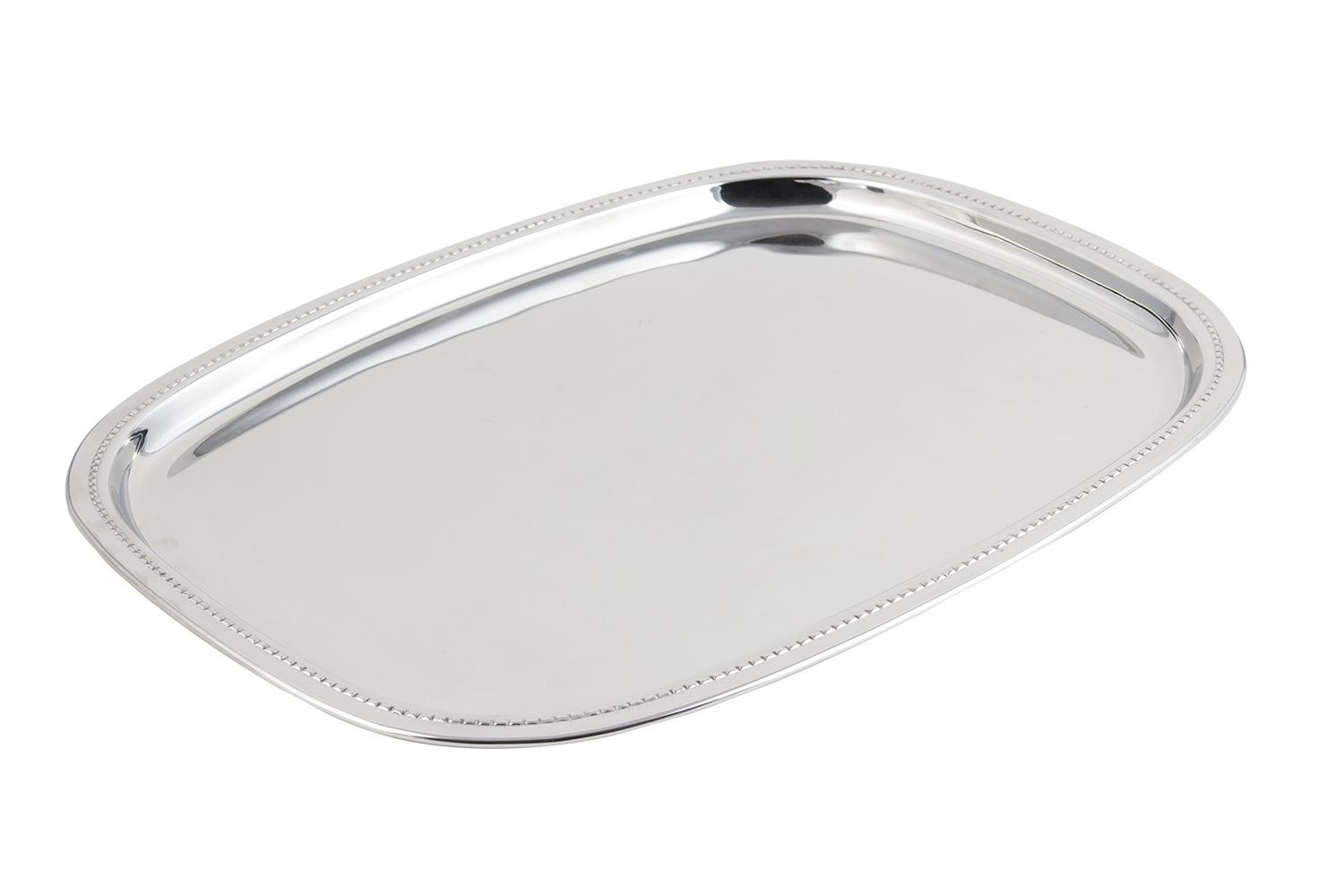 "Bon Chef 61351 Stainless Steel Oblong Tray, 13 3/4"" x 17 13/16"""