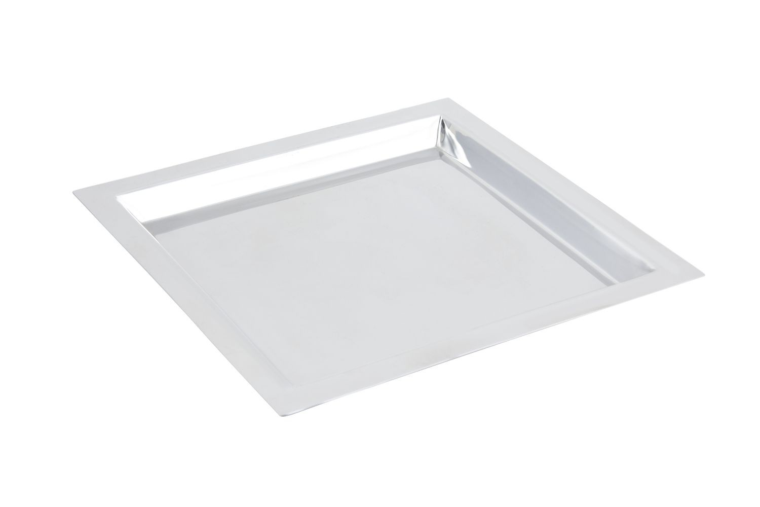 "Bon Chef 61364 Stainless Steel Square Tray, 15"" x 15"""