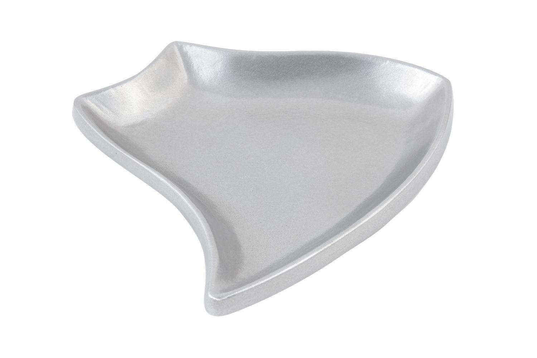 "Bon Chef 70001P Futura Platter, Pewter Glo 11 3/4"", Set of 2"