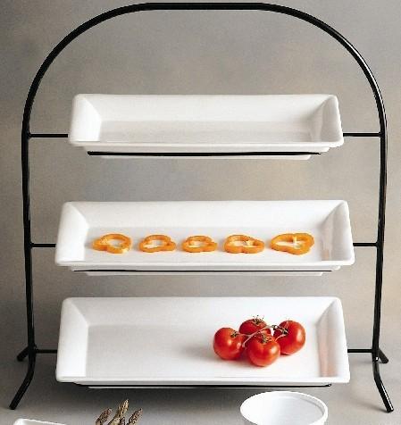 "Bon Chef 7002GR Gray Wire Display Stand, 28 1/2"" x 10 1/4"" x 29 1/2"""