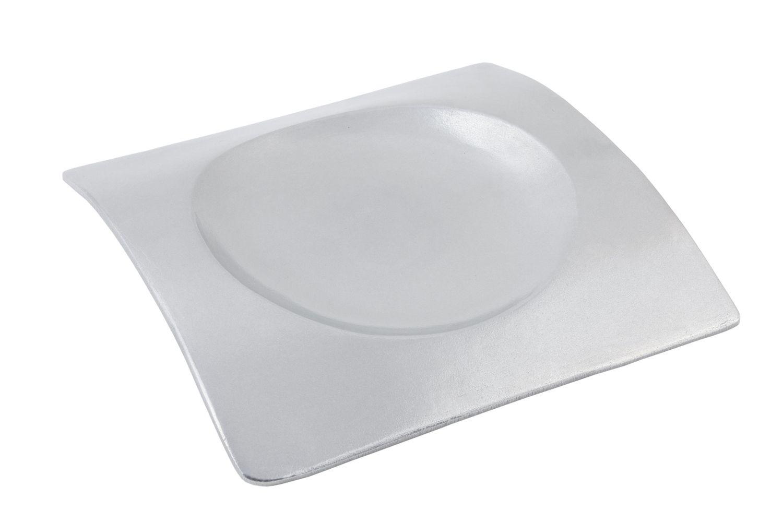 "Bon Chef 70036P Futura Platter, Pewter Glo 12 1/4"" x 12 1/4"""