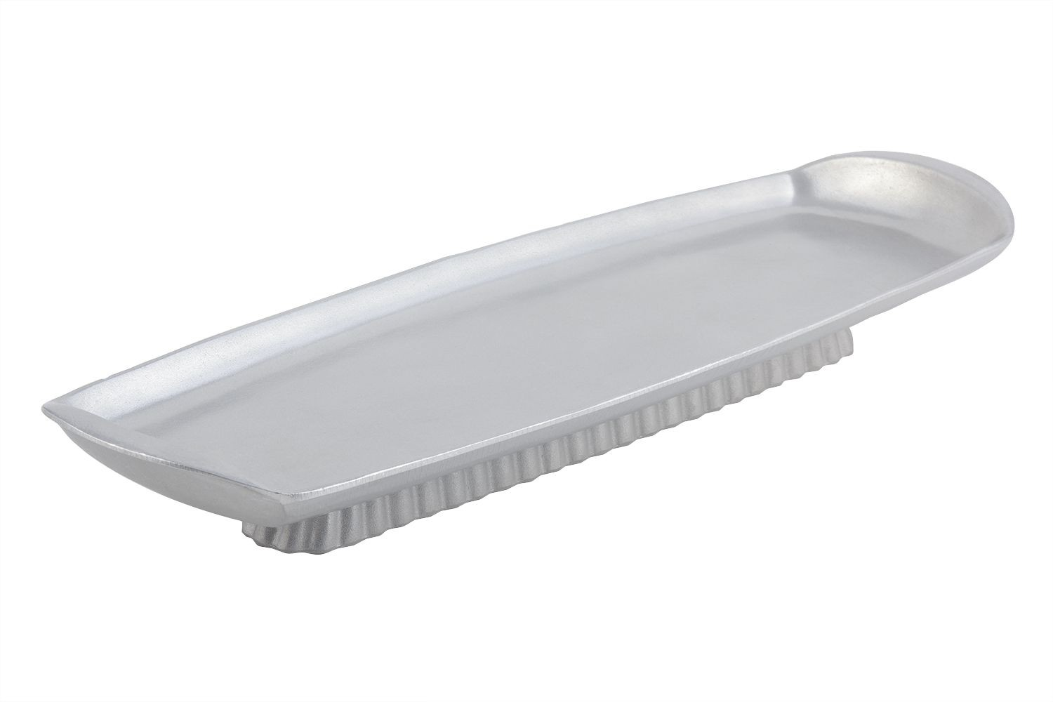 "Bon Chef 700389915P Futura Footed Platter, Pewter Glo 8 5/8"" x 27"" x 2"""