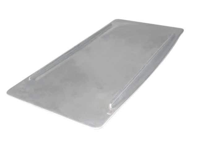 "Bon Chef 70066P Futura2 Flat Platter, Pewter Glo 20"" x 10"" x 1/2"""