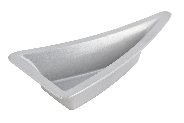 "Bon Chef 70070P Futura2 Triangular Platter, Pewter Glo 11"" x 5 1/2"" x 3"""
