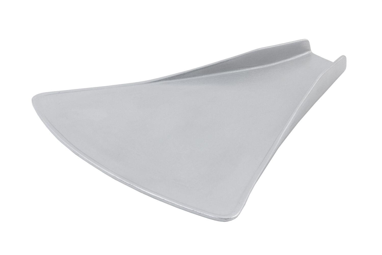 "Bon Chef 70076P Futura2 Triangular Platter, Pewter Glo 16"" x 16"" x 1/4"""