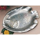 "Bon Chef 80254 Small Fish Platter, Pewter Glo 8 3/4"" x 11 1/4"""