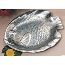 "Bon Chef 80254 Small Fish Platter, Pewter Glo 8 3/4"" x 11 1/4"""
