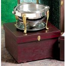 "Bon Chef 812000W Wooden Chafer Box, 25"" x 25"" x 15"""