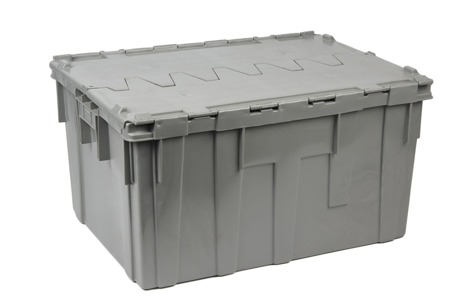 "Bon Chef 812001P Stackable Gray Reinforced Plastic Chafer Box with Locking Lid, 28"" x 21"" x 15"""