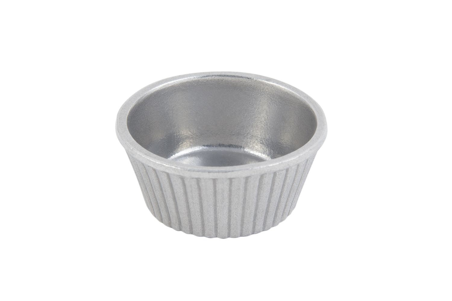 Bon Chef 9027P Fluted Ramekin, Pewter Glo 4 oz., Set of 24