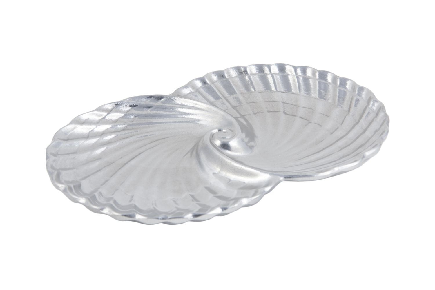 """Bon Chef 9074P Double Shell Bowl, Pewter Glo 7"""" x 11 3/4"""", Set of 3"""
