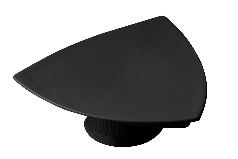 """Bon Chef 90809059S Pedestal Triangle Plate, Sandstone 11 1/2"""", 4"""" H."""