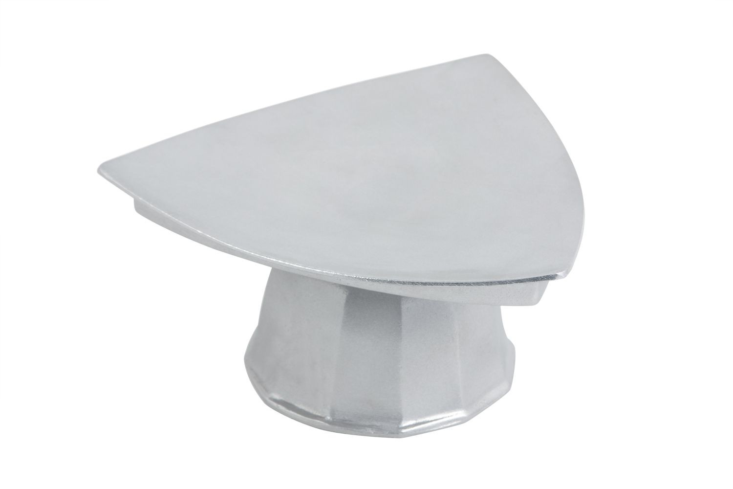 Bon Chef 90809106P Pedestal Triangle Plate, Pewter Glo 11 1/2""