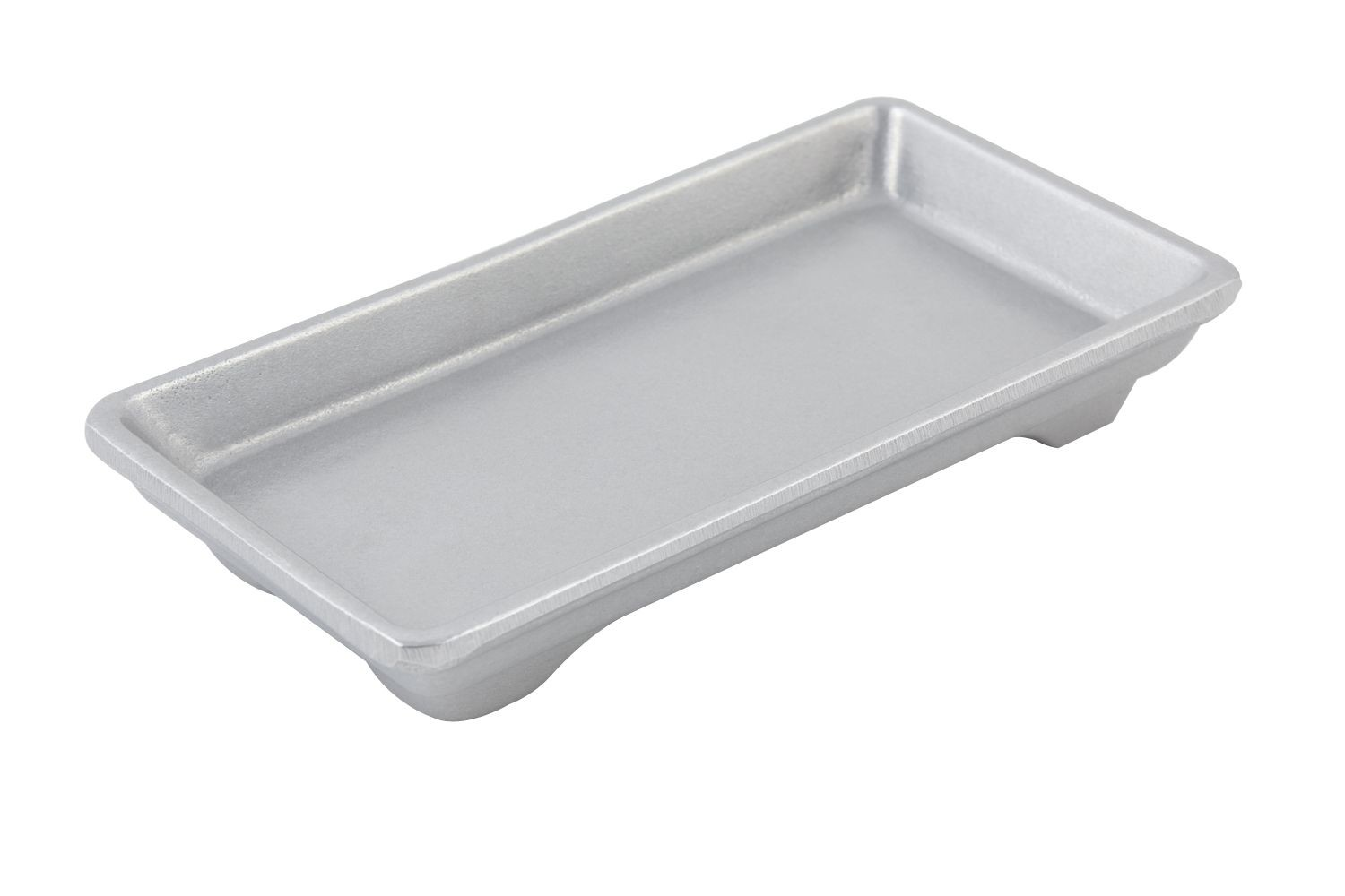 "Bon Chef 9082P Small Footed Rectangular Tray, Pewter Glo 7 1/2"" x 3 3/4"",Set of 3"