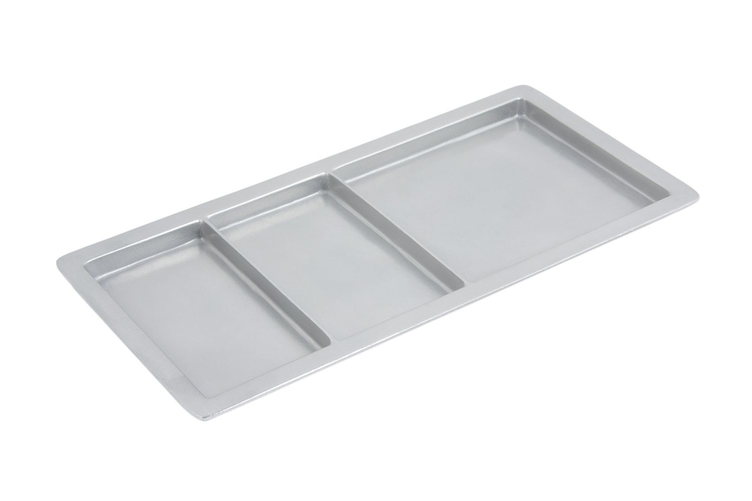 "Bon Chef 9084P Rectangle Compartment Tray, Pewter Glo 9 1/2"" x 18"", Set of 3"