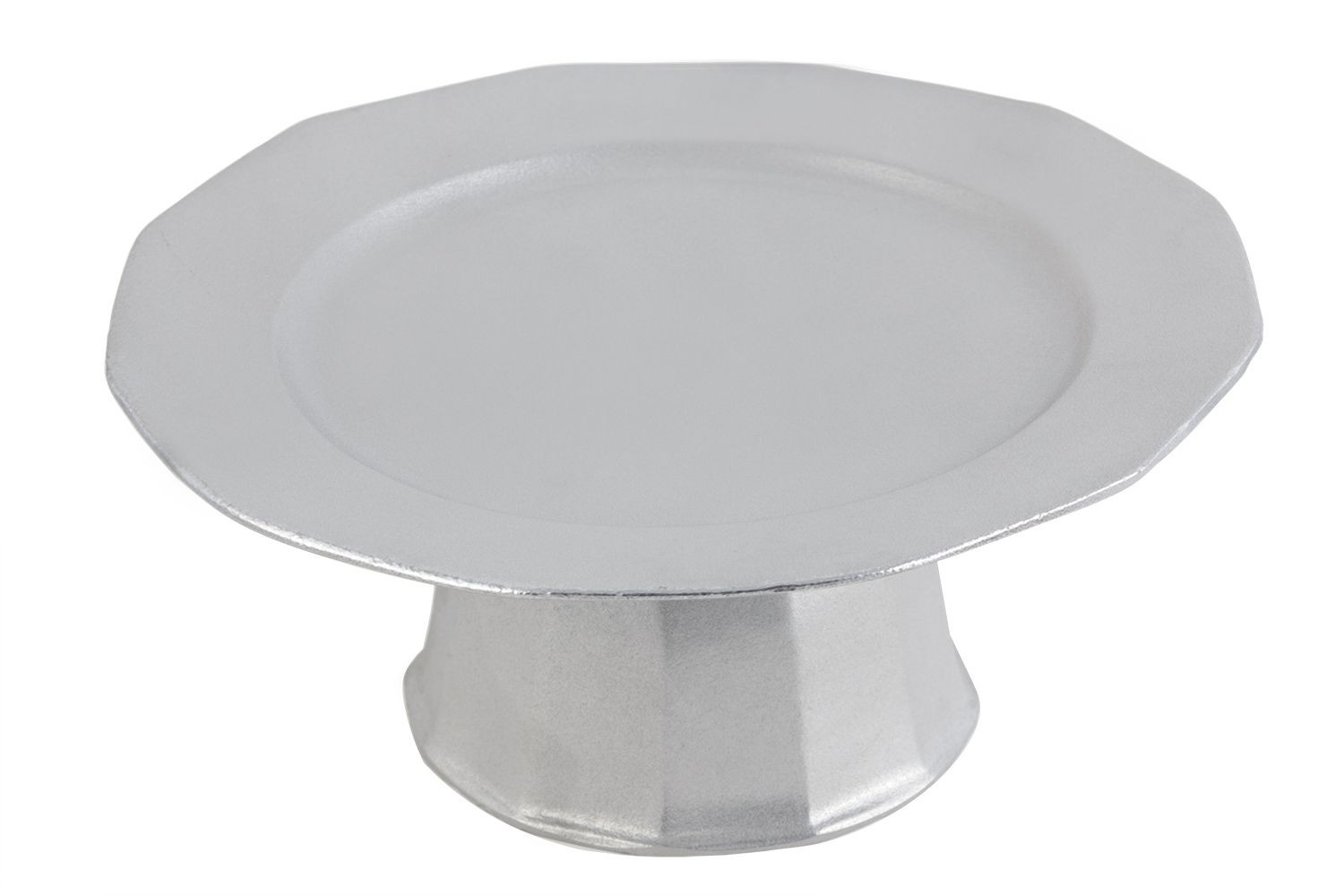 "Bon Chef 90979106P Prism Elevated Serving and Display Tray, Pewter Glo 13"" Dia."