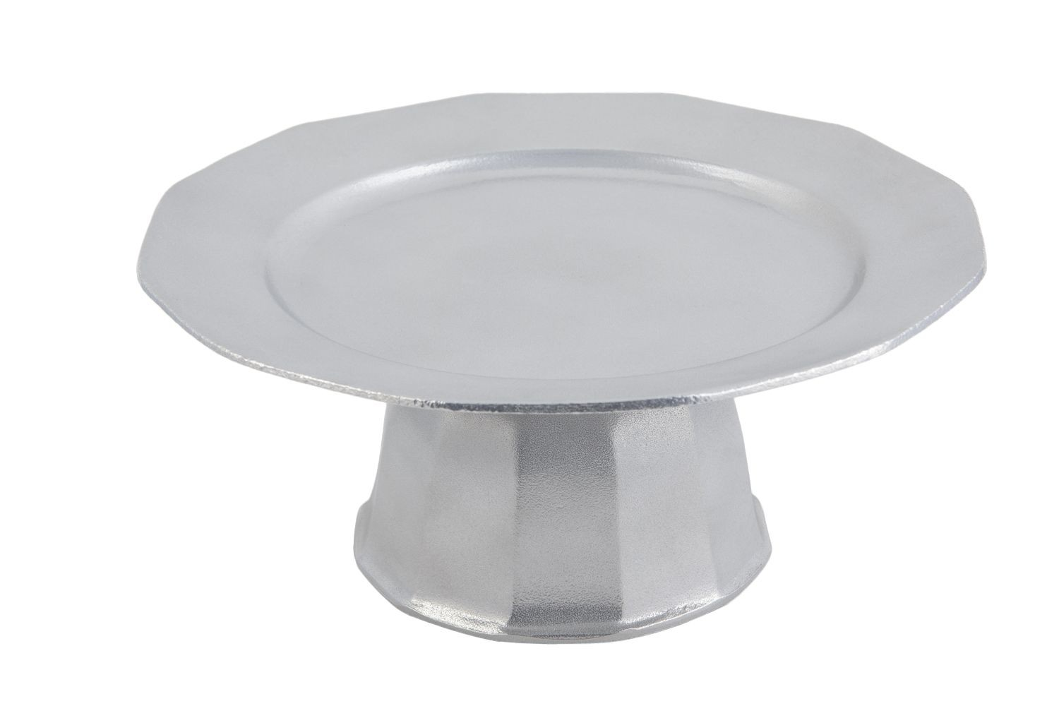 "Bon Chef 90979113P Prism Pedestal Serving Tray, Pewter Glo 13"" Dia."