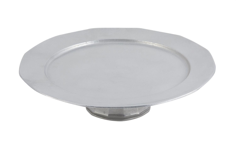 """Bon Chef 90989113P Pedestal Tray, Pewter Glo 15"""" Dia."""
