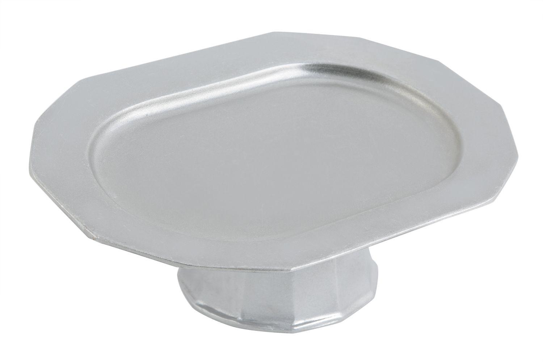 """Bon Chef 90999106P Prism Pedestal Tray, Pewter Glo 9 7/8"""" x 14 1/4"""""""