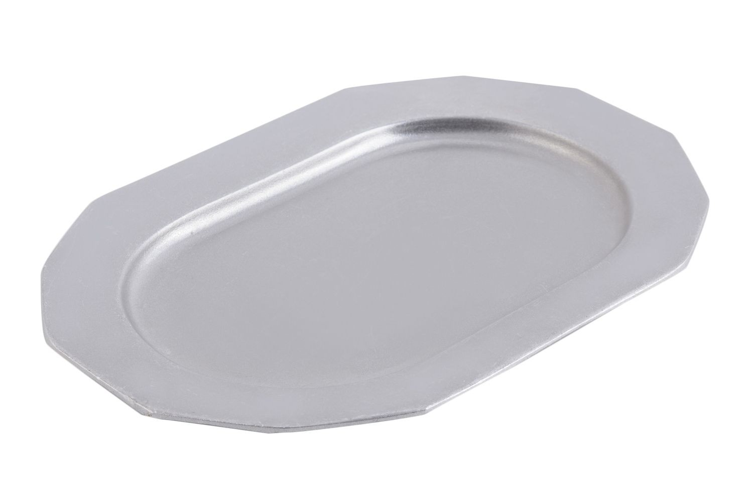 "Bon Chef 9099P Long Prism Tray, Pewter Glo 9 7/8"" x 14 1/4"""