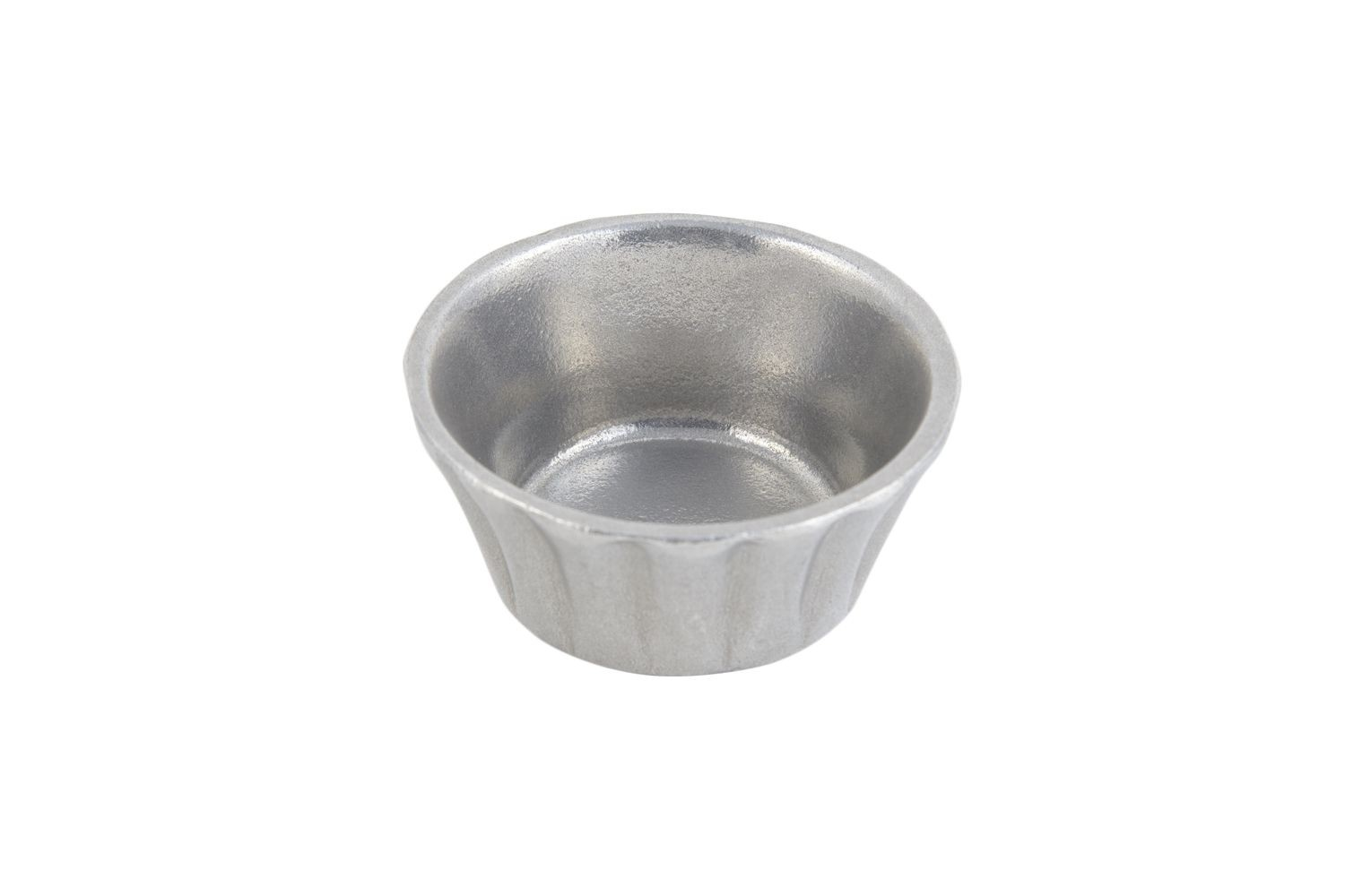 Bon Chef 9104P Round Stackable Ramekin, Pewter Glo 4 oz., Set of 24