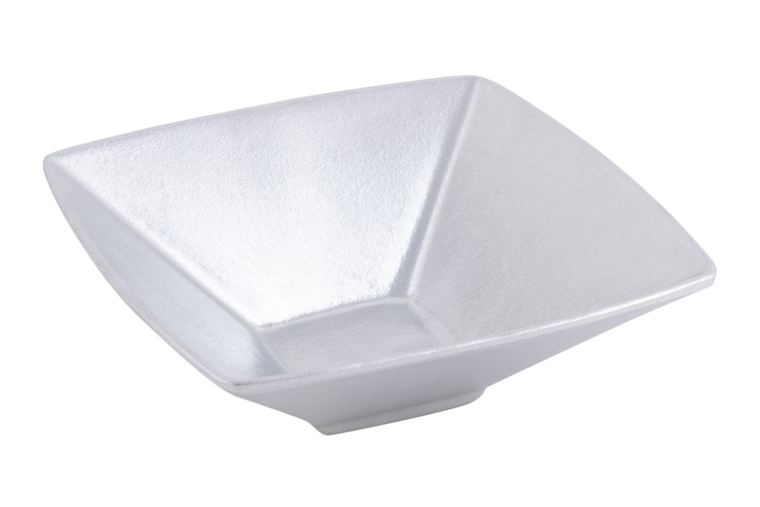 Bon Chef 9110P Square Salad Bowl, Pewter Glo 12 oz., Set of 12