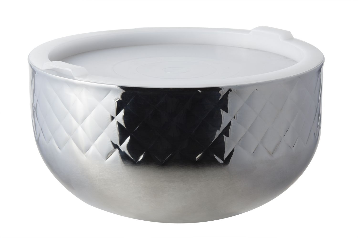 Bon Chef 9316DI Cold Wave Diamond Collection Triple Wall Bowl with Stacking Cover, 7 Qt.