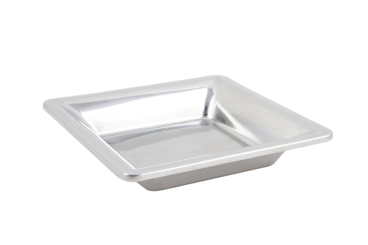 "Bon Chef 9322 Cold Wave Square Platter with Satin Finish, 11 7/8"" x 11 7/8"" x 2 1/4"", Set of 6"
