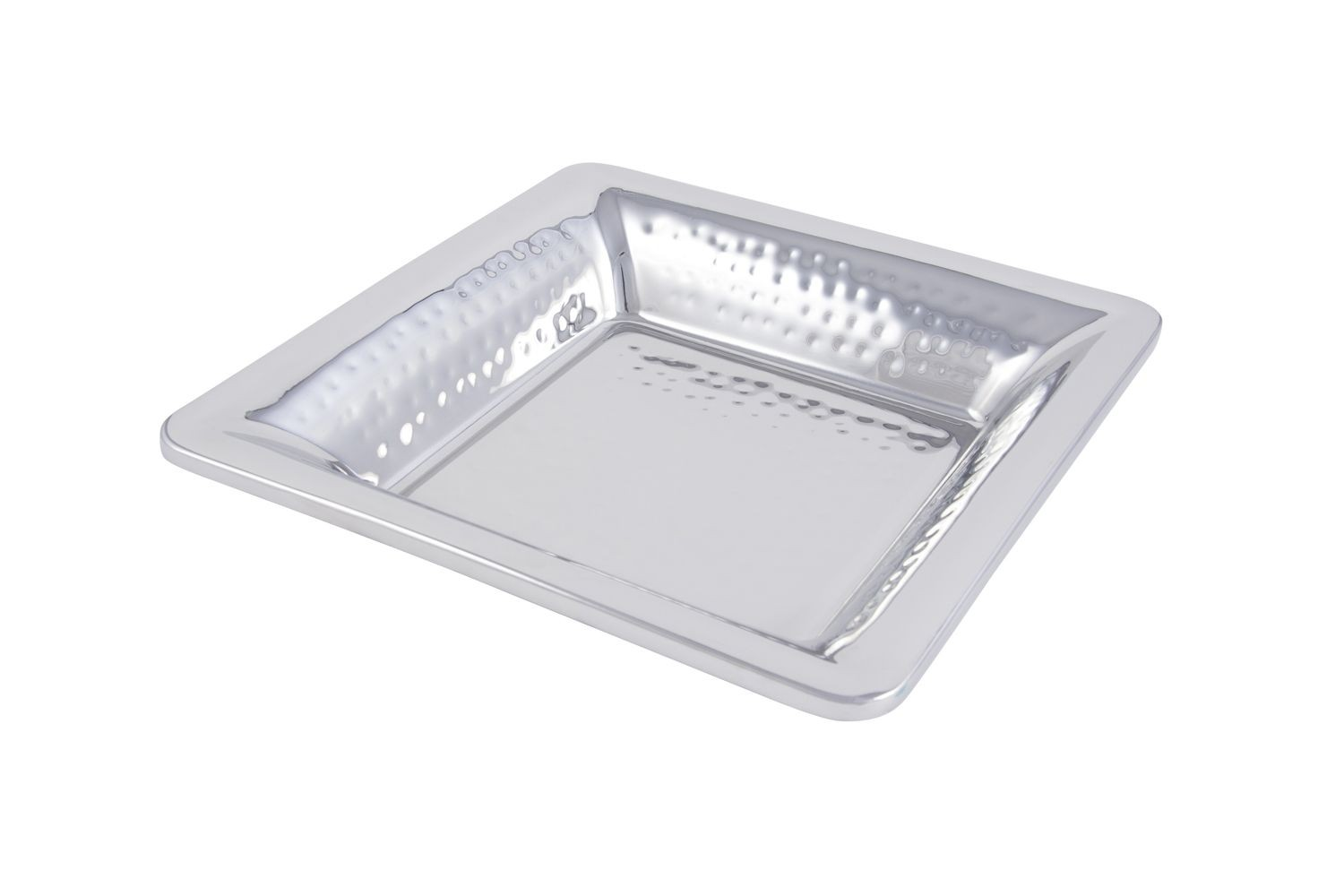 """Bon Chef 9322H Cold Wave Square Platter with Hammered Finish, 11 7/8"""" x 11 7/8"""" x 2 1/4"""", Set of 6"""