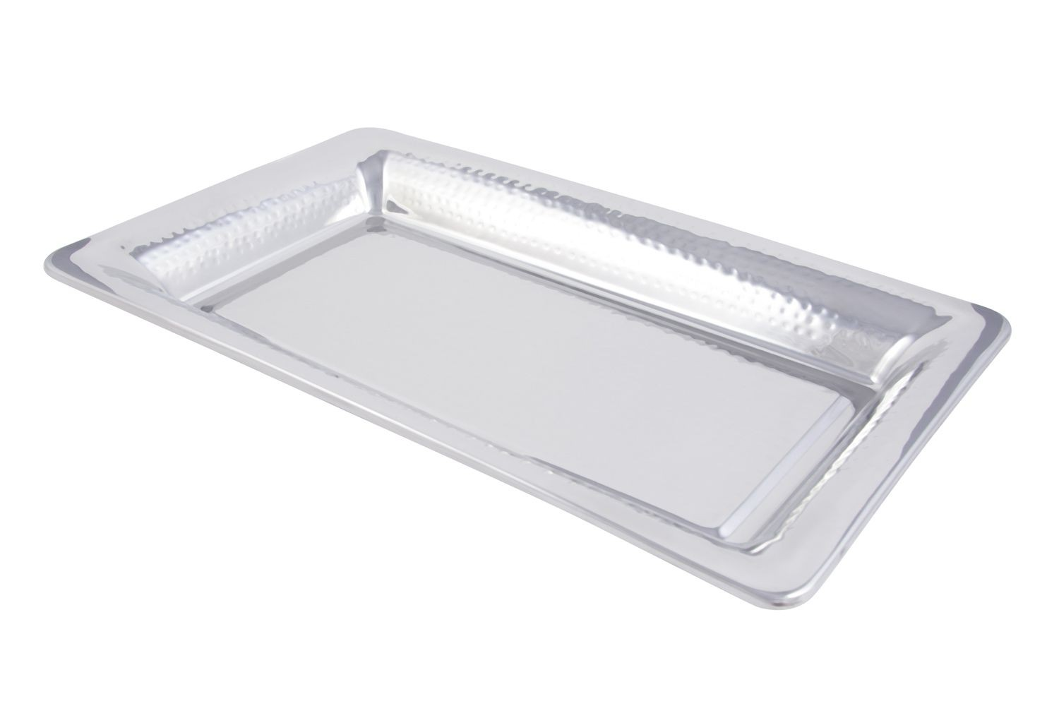 "Bon Chef 9323H Cold Wave Platter with Hammered Finish, 21 1/8"" x 12 3/4"" x 2 1/8"", Set of 6"