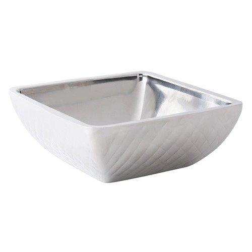 Bon Chef 9332DI Cold Wave Square Diamond Triple Wall Bowl with Cover, 3 Qt.