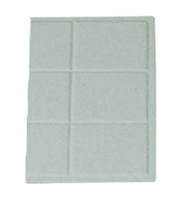 "Bon Chef 9600-1/3S 1/3 Size Tile Tray, Sandstone 13 1/8"" x 7 3/16"""