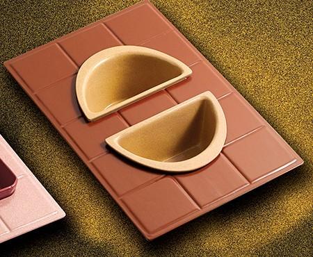 Bon Chef 960025102 Custom Cut Tile for (2) 5102, Sandstone