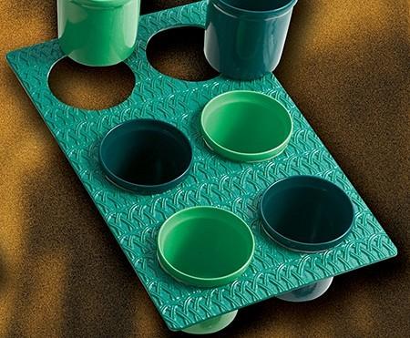 Bon Chef 963069202S Single Size Trellis Design Tile Tray for (6) 9202, Sandstone