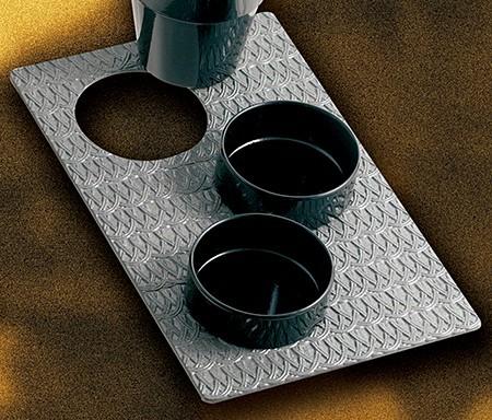 Bon Chef 9630H39013S Single Size Trellis Design Tile Tray for (3) 9013, Sandstone