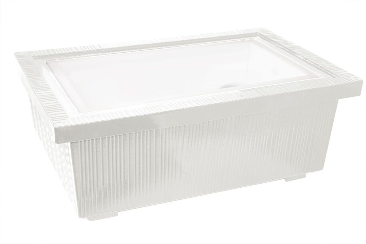 """Bon Chef 9695P Single Insulated Ice Station, Pewter Glo 24 3/4"""" x 16 3/4"""" x 8 1/4"""""""