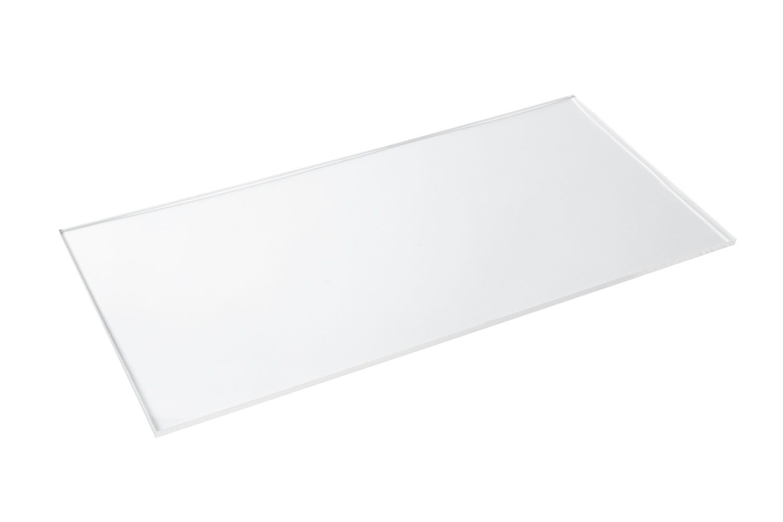 "Bon Chef 9756 Rectangular Clear Plastic Shelf, 24"" x 12"", Set of 6"