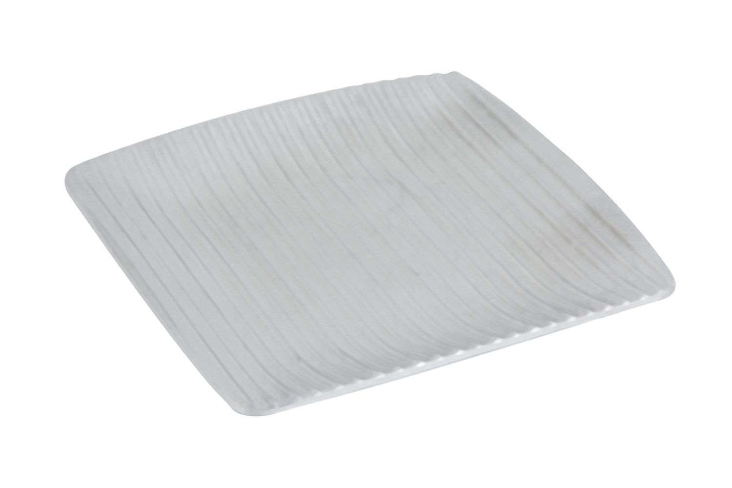 "Bon Chef 9918P Ribbed Square Platter, Pewter Glo 10"" x 10"", Set of 4"