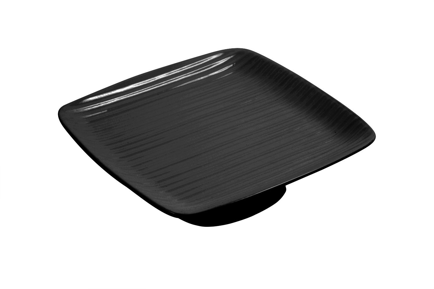 """Bon Chef 99199911S Footed Ribbed Platter, Sandstone 12 1/2"""" x 12 1/2"""" x 3"""""""