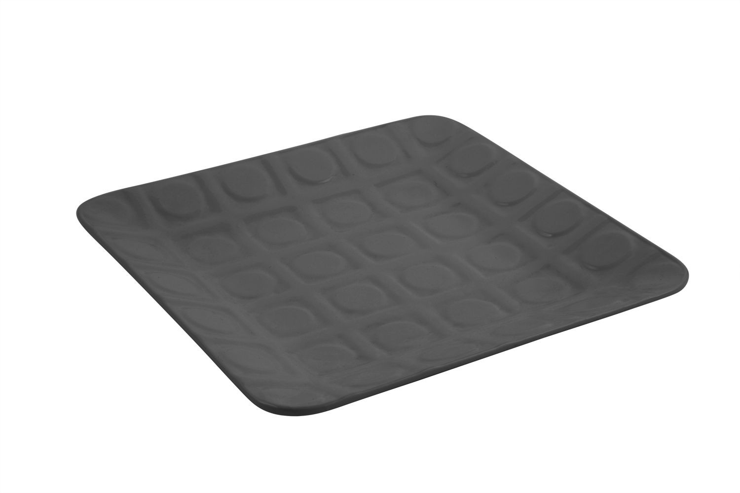 "Bon Chef 9924S Circle-Embossed Square Platter, Sandstone 12 1/2"" x 12 1/2"", Set of 2"