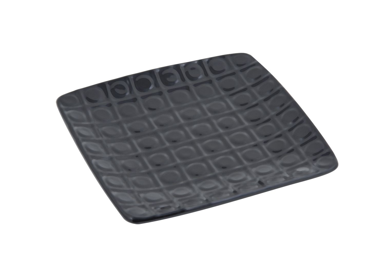 "Bon Chef 9925S Circle-Embossed Square Platter, Sandstone 8 1/4"" x 8 1/4"", Set of 4"
