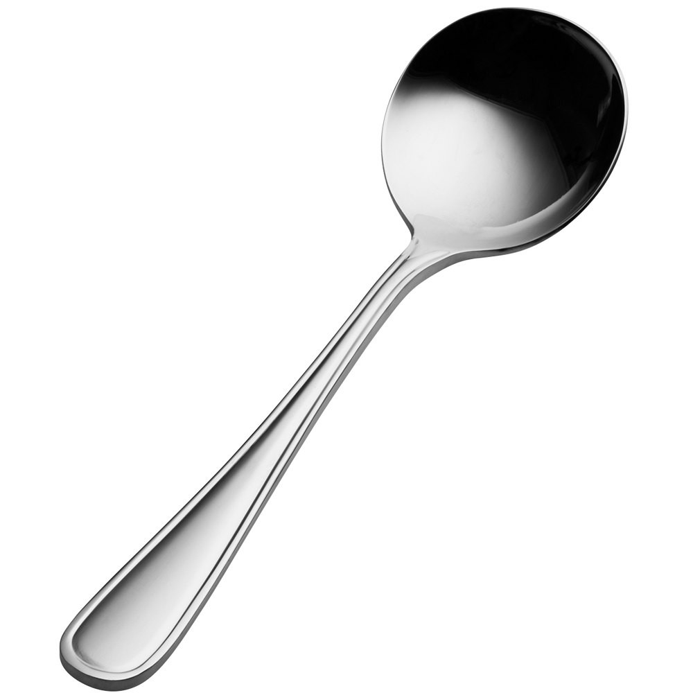 Bon Chef S301S Tuscany 18/8 Stainless Steel Silverplated Bouillon Spoon
