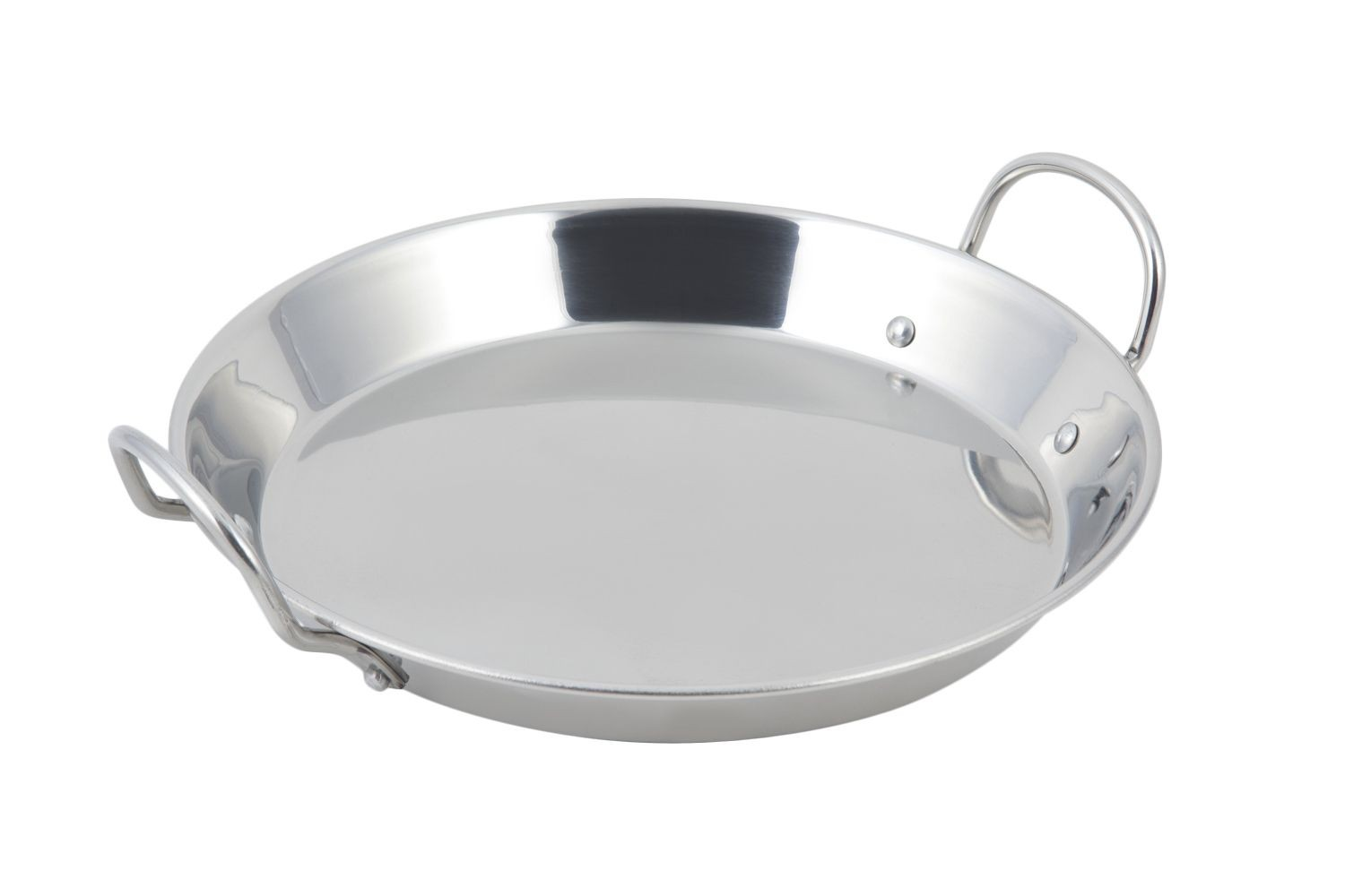 "Bon chef 61250 Stainless Steel Paella Tray with Induction Bottom, 13 1/5"" Dia."