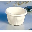 Thunder Group ML507B Bone White Melamine1.5 oz. Fluted Ramekin 2-1/2""