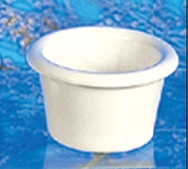 Thunder Group ML534B Bone White Melamine 1-1/2 oz. Smooth Ramekin