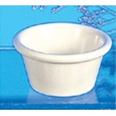 Thunder Group ML536B Bone White Melamine 2.5 oz. Smooth Ramekin 2-7/8""